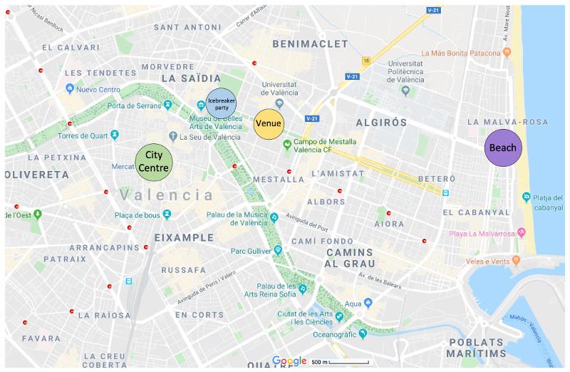 Map of Valencia