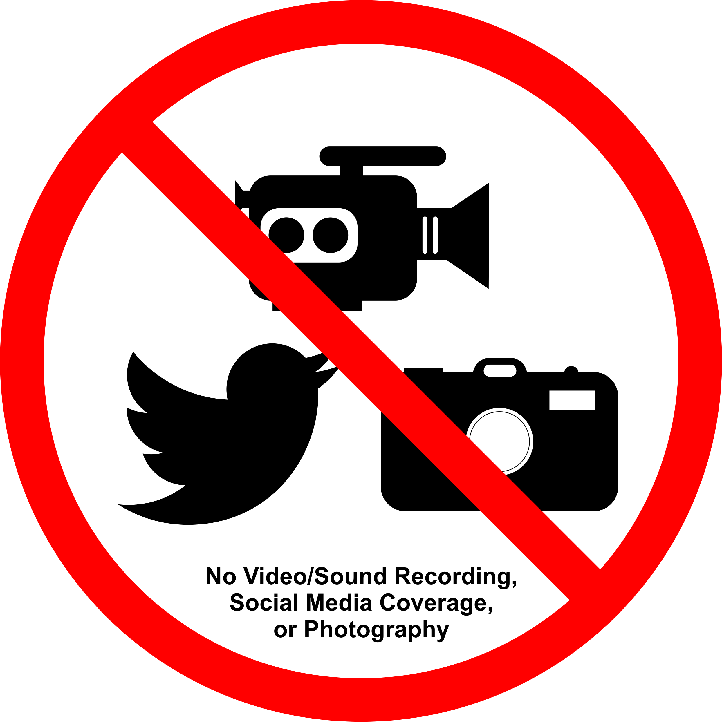 Permission Sign - All NOT allowed