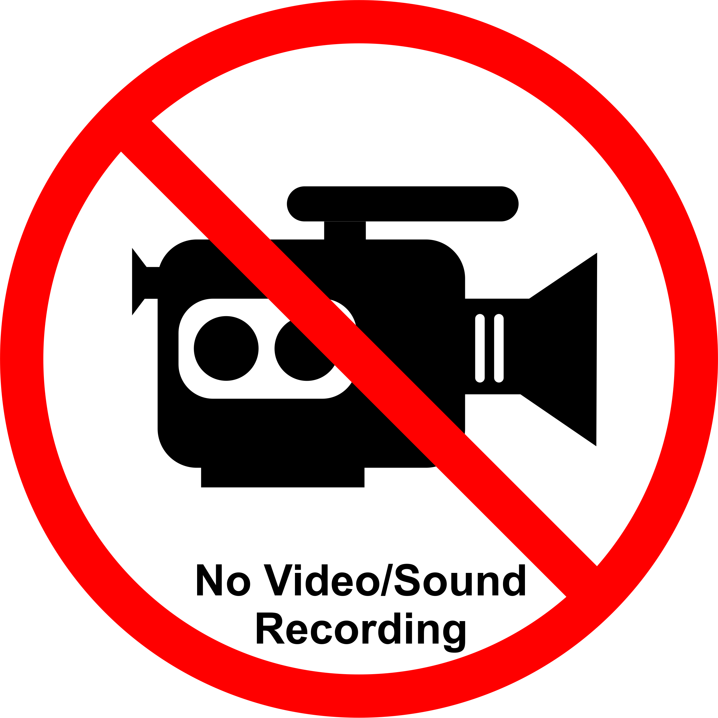 Permission Sign - Recording/Streaming NOT allowed