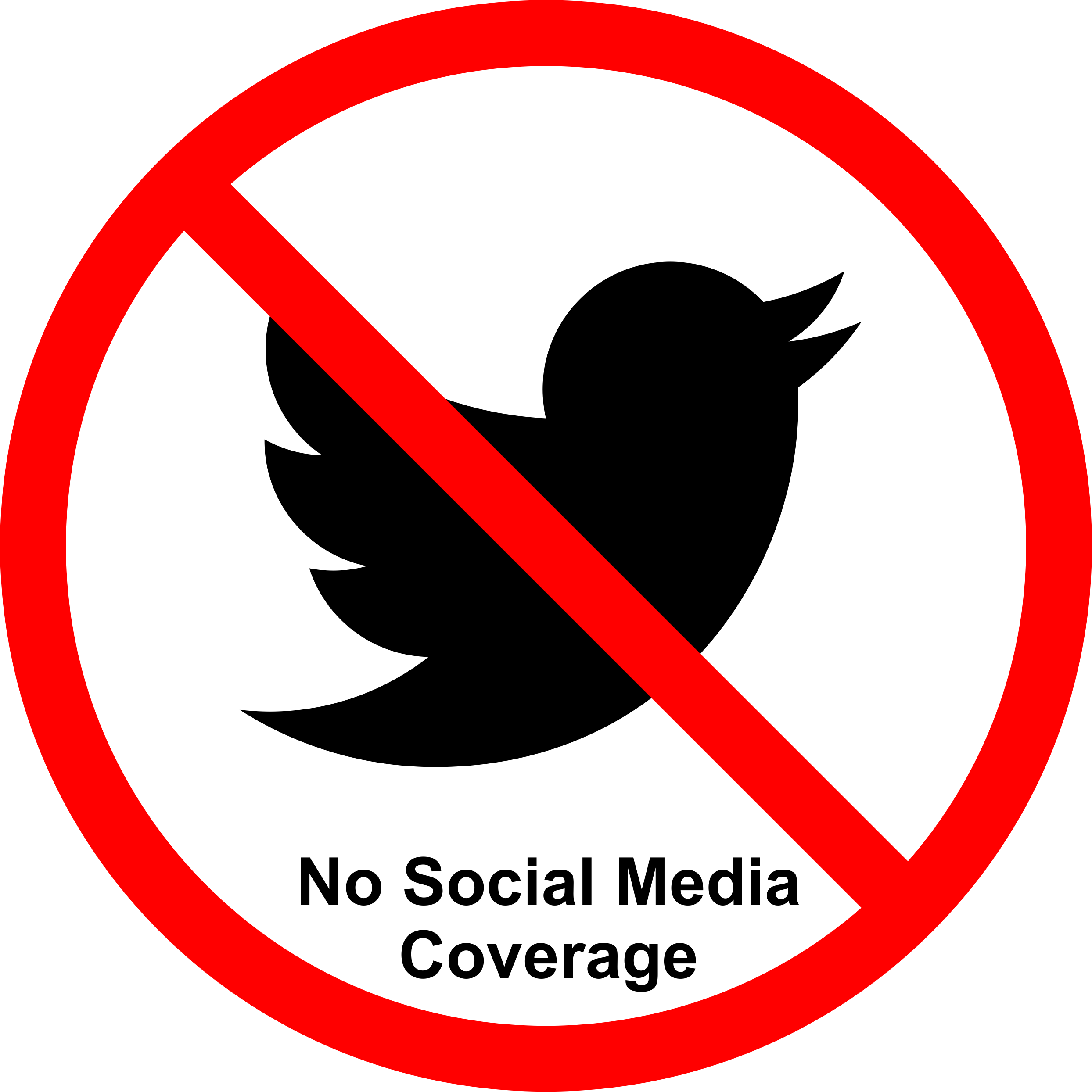 Permission Sign Social Media Not Allowed