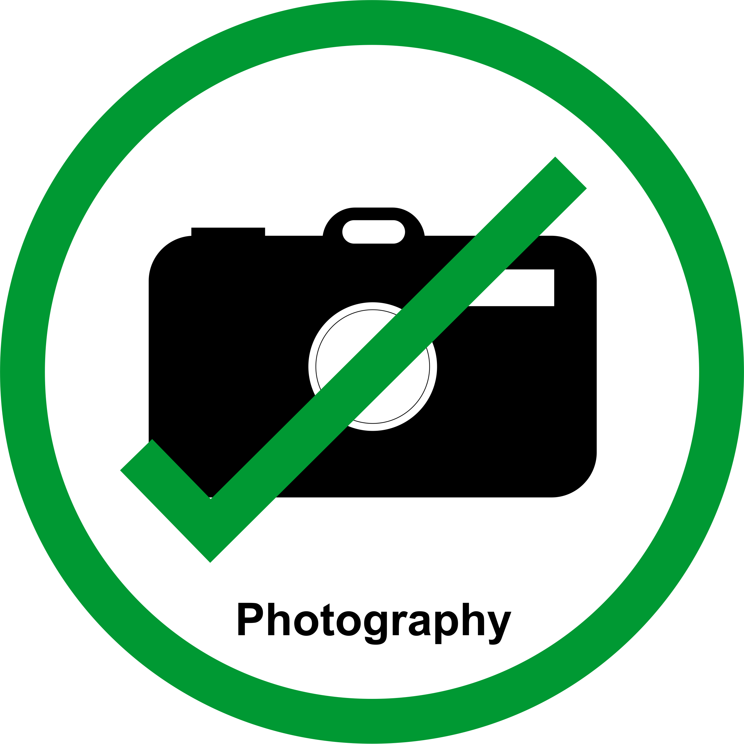 Permission Sign - Photography allowed