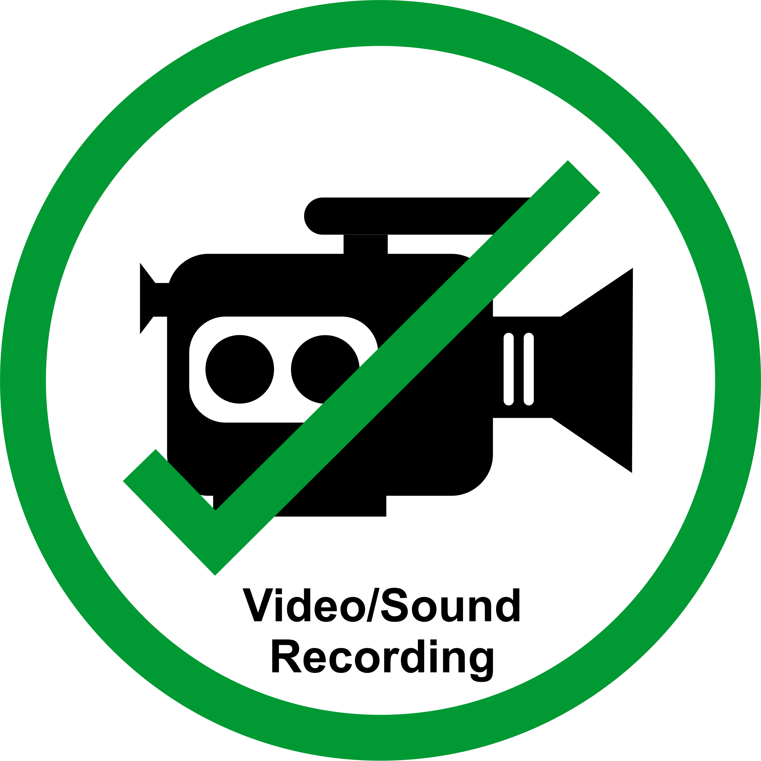 Permission Sign - Recording/Streaming allowed