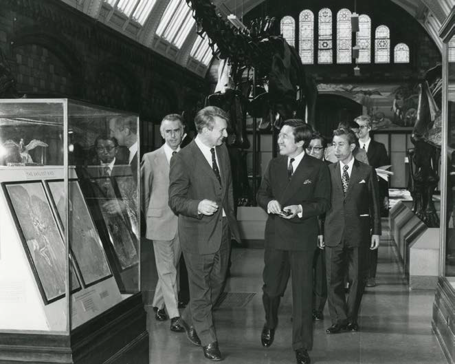 PalAss at 60 - Bill Ball showing Crown Prince Akihito around NHM