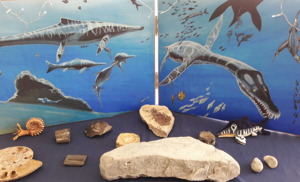 Lyme Regis Fossil Festival - 2017- Jurassic Diorama