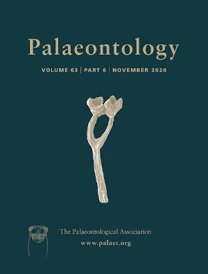 Palaeontology - Vol. 63 Part 6 - Cover Image