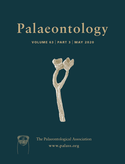 Palaeontology - Vol. 63 Part 3 - Cover Image