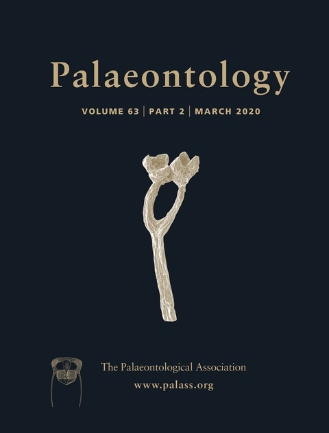 Palaeontology - Vol. 63 Part 2 - Cover Image