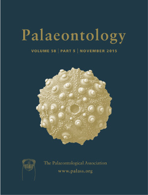 Palaeontology - Vol. 58 Part 5 - Cover Image