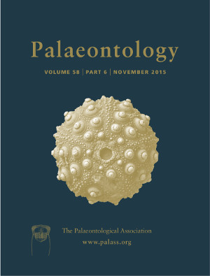 Palaeontology - Vol. 58 Part 6 - Cover Image