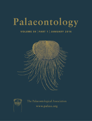 Palaeontology - Vol. 59 Part 1 - Cover Image