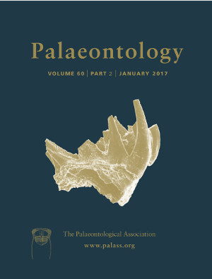 Palaeontology - Volume 60 Part 2 - Cover