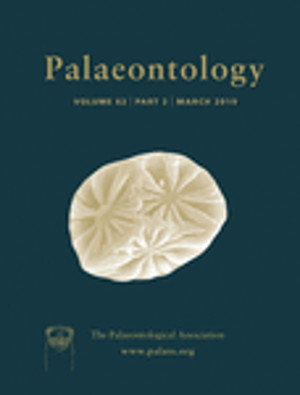 Palaeontology - Vol. 62 Part 3 - Cover Image
