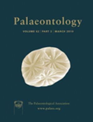 Palaeontology - Vol. 62 Part 3 - Cover Image