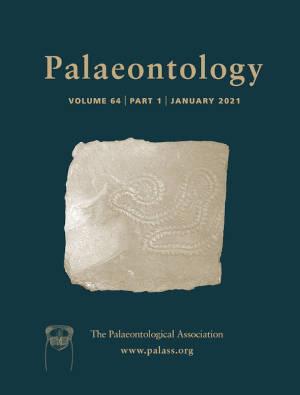 Palaeontology - Vol. 64 Part 1 - Cover Image