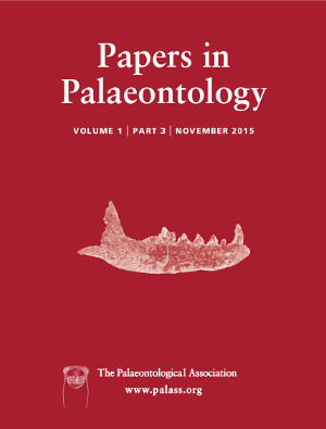 Papers in Palaeontology - Vol. 1 Part 3 - Cover Image