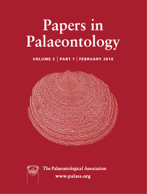 Papers in Palaeontology - Cover Image - Volume 2 Part 1