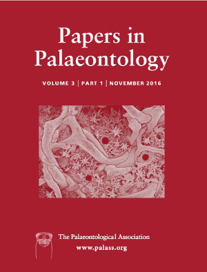 Papers in Palaeontology - Volume 3 Part 1 - Cover