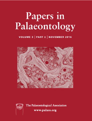 Papers in Palaeontology - Volume 3 Part 2 - Cover