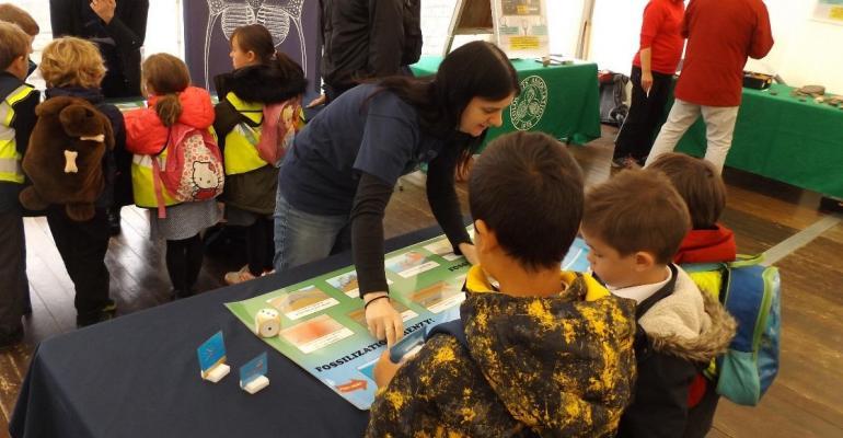 Children at the Lyme Regis Fossil Festival